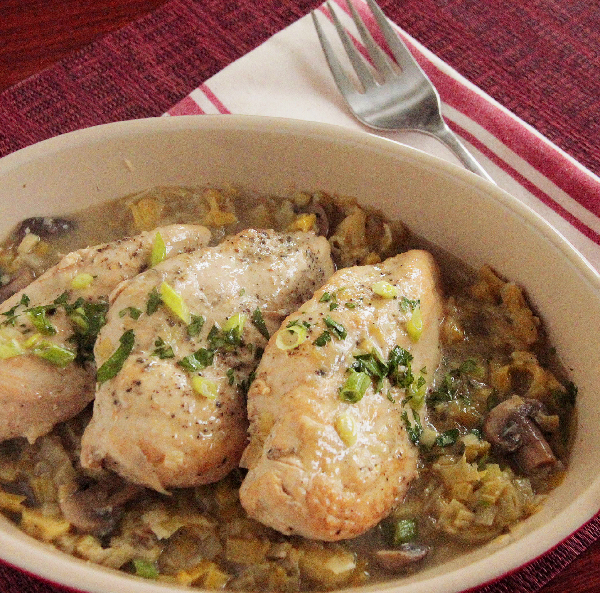 Chicken with leeks and mushrooms recipesstantpot forumfinder Choice Image