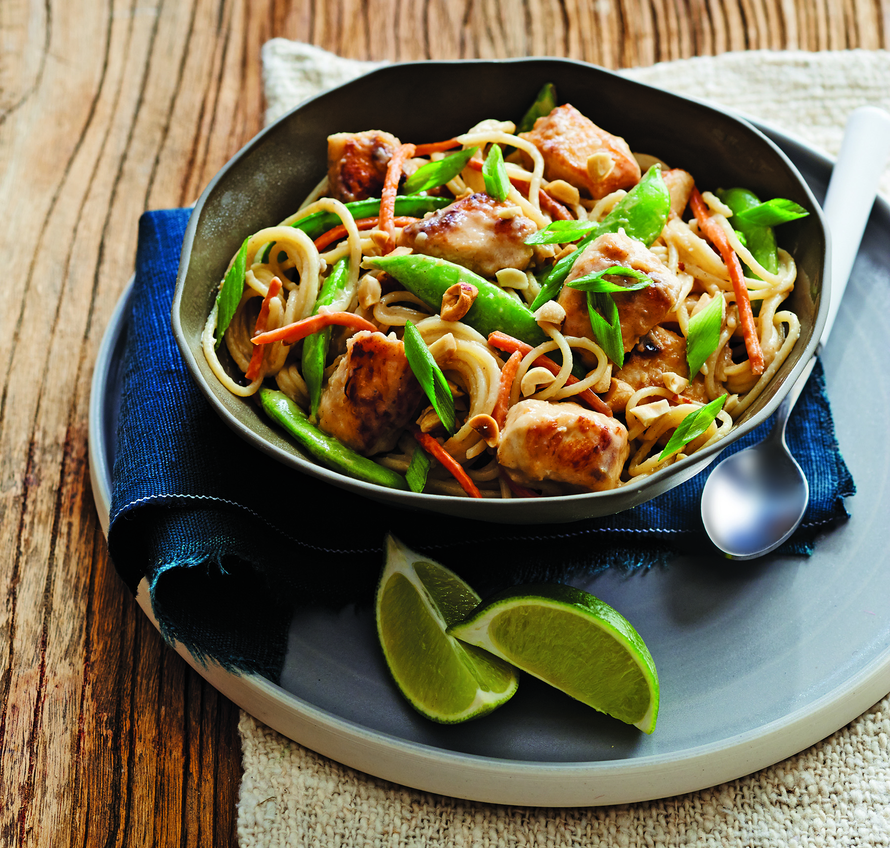 Peanut Chicken and Sugar Snap Peas with Noodles – Recipes ...