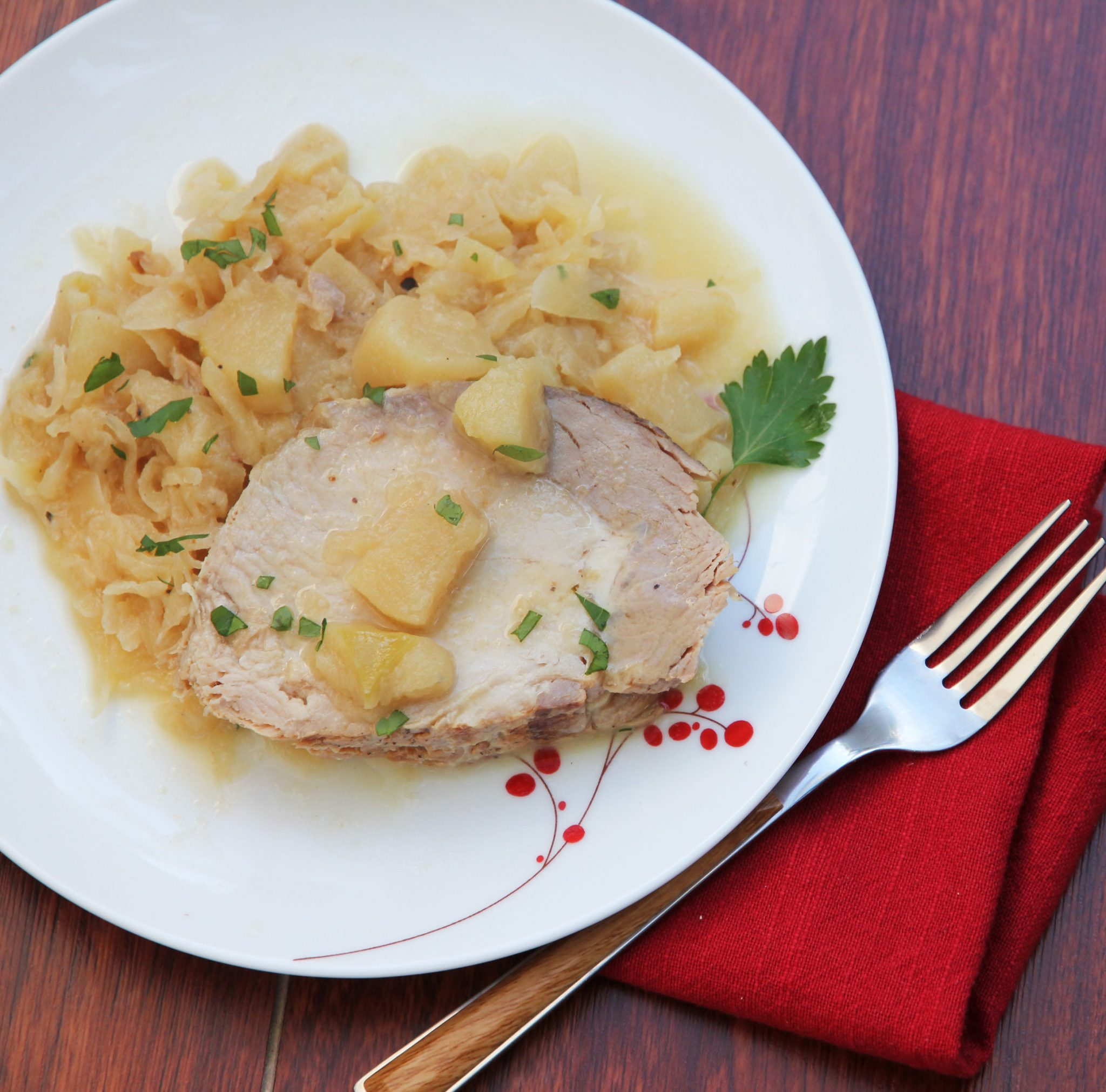 Pork Loin With Sauerkraut And Apples Instant Pot Recipes