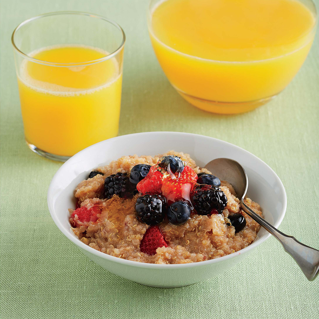 slow cook chai spiced breakfast quinoa with berries recipes