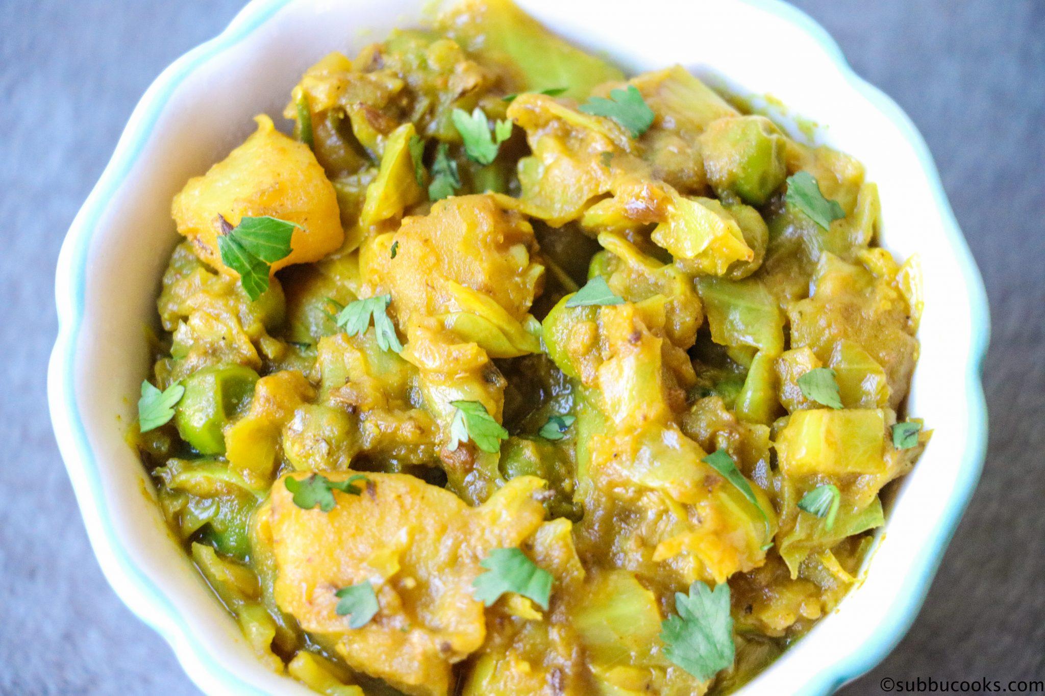 Cabbage potato peas curry recipesstantpot print recipe forumfinder Image collections