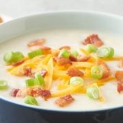 baked potato soup, potato soup. instant pot soup recipe