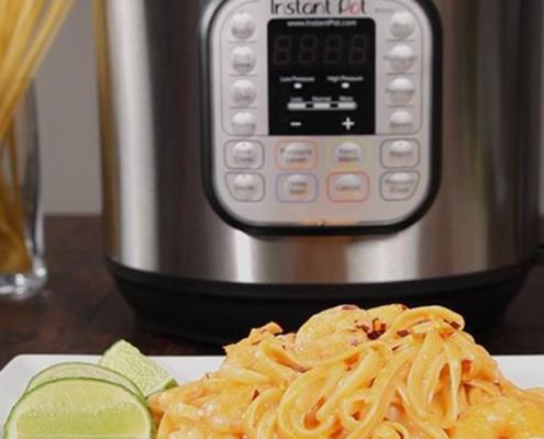 shrimp pasta, instant pot star wars, instant pot recipes, instant pot shrimp recipes, instant pot shrimp pasta