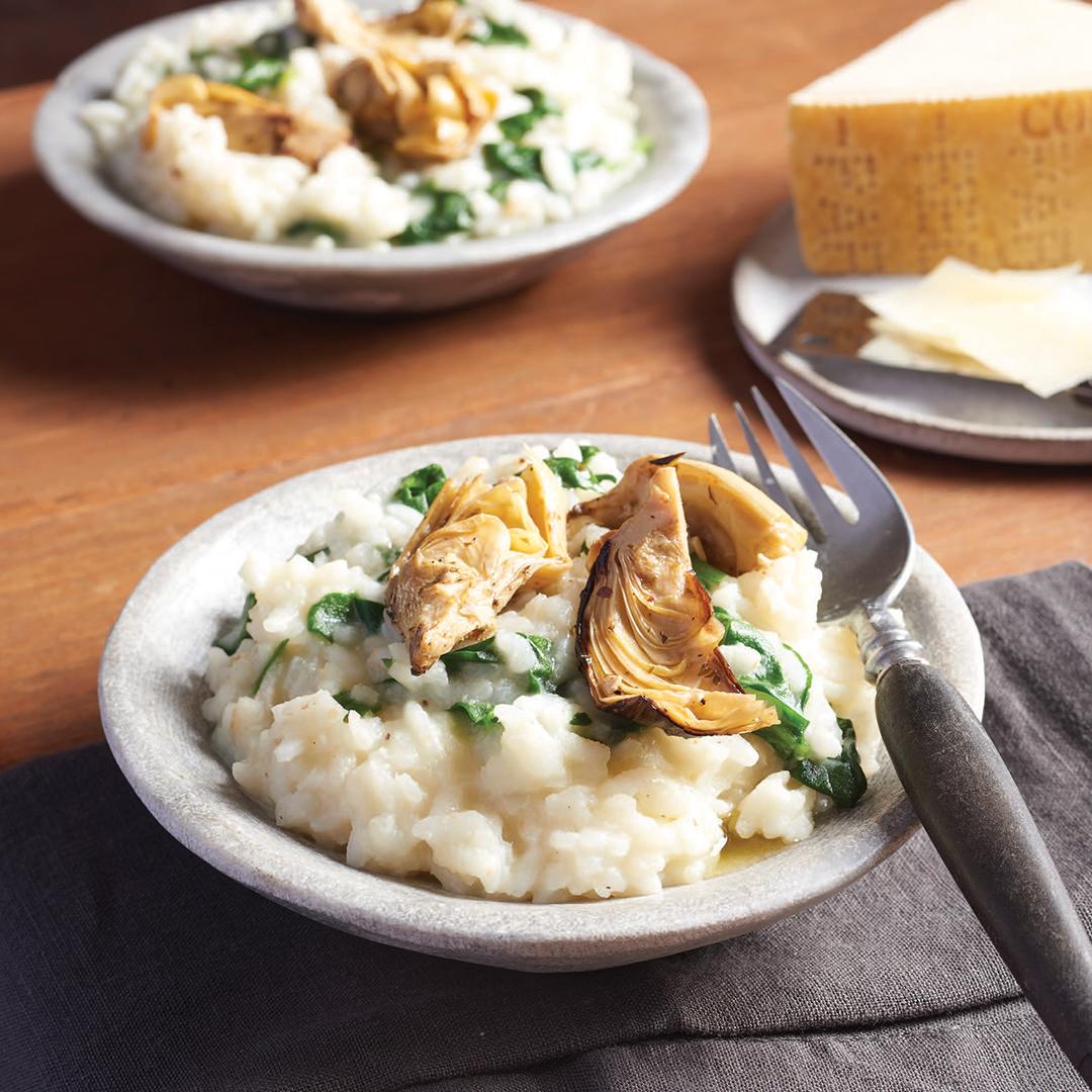 Artichoke Spinach Risotto