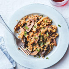 Buckwheat Pilaf with Mushrooms and Caramelized Onions