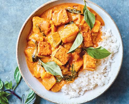 Massaman Curry with Tofu and Kabocha Squash