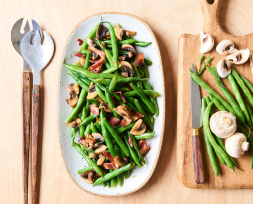 Instant Pot Green Beans With Mushrooms And Bacon