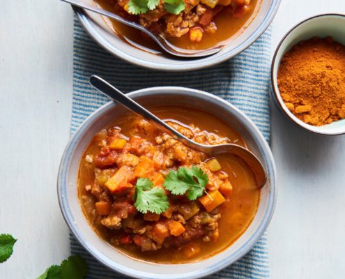 Instant Pot Sweet Potato Ground Turkey Chili