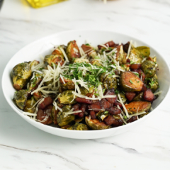 air fryer recipe, air fryer Brussels sprouts, air fryer vegetables, Instant vortex plus, air fryer recipes, air fryer, instant pot air fryer, Vortex plus recipes, omni recipes, omni plus recipes