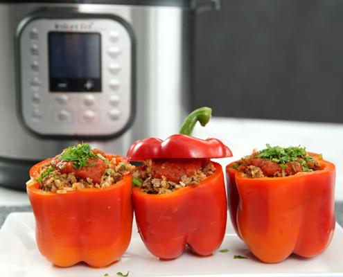 instant pot recipe, instant pot beef recipe, instant pot stuffed pepper recipe, stuffed pepper recipe