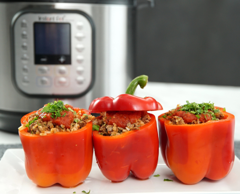 instant pot recipe, instant pot beef recipe, instant pot stuffed pepper recipe, stuffed pepper recipe