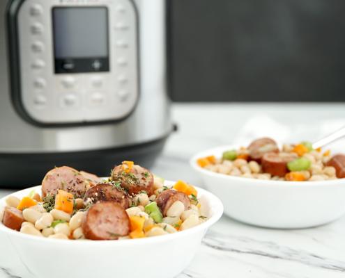 instant pot recipe, instant pot sausage recipe, sausage recipe, instant pot dinner recipe