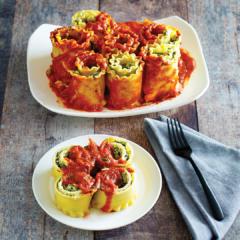 instant pot spinach lasagna rolls, instant pot lasagna, instant pot lasagna rolls