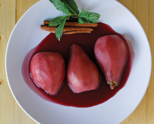 instant pot poached pears