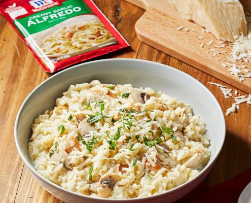 chicken Alfredo risotto recipe, instant pot chicken alfredo recipe, instant pot McCormick recipes, instant pot recipes