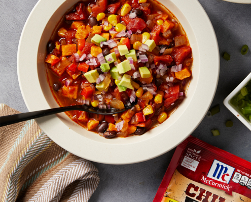 instant pot chili recipe, instant pot recipe, instant pot mccormick vegetarian chili, vegetarian recipes