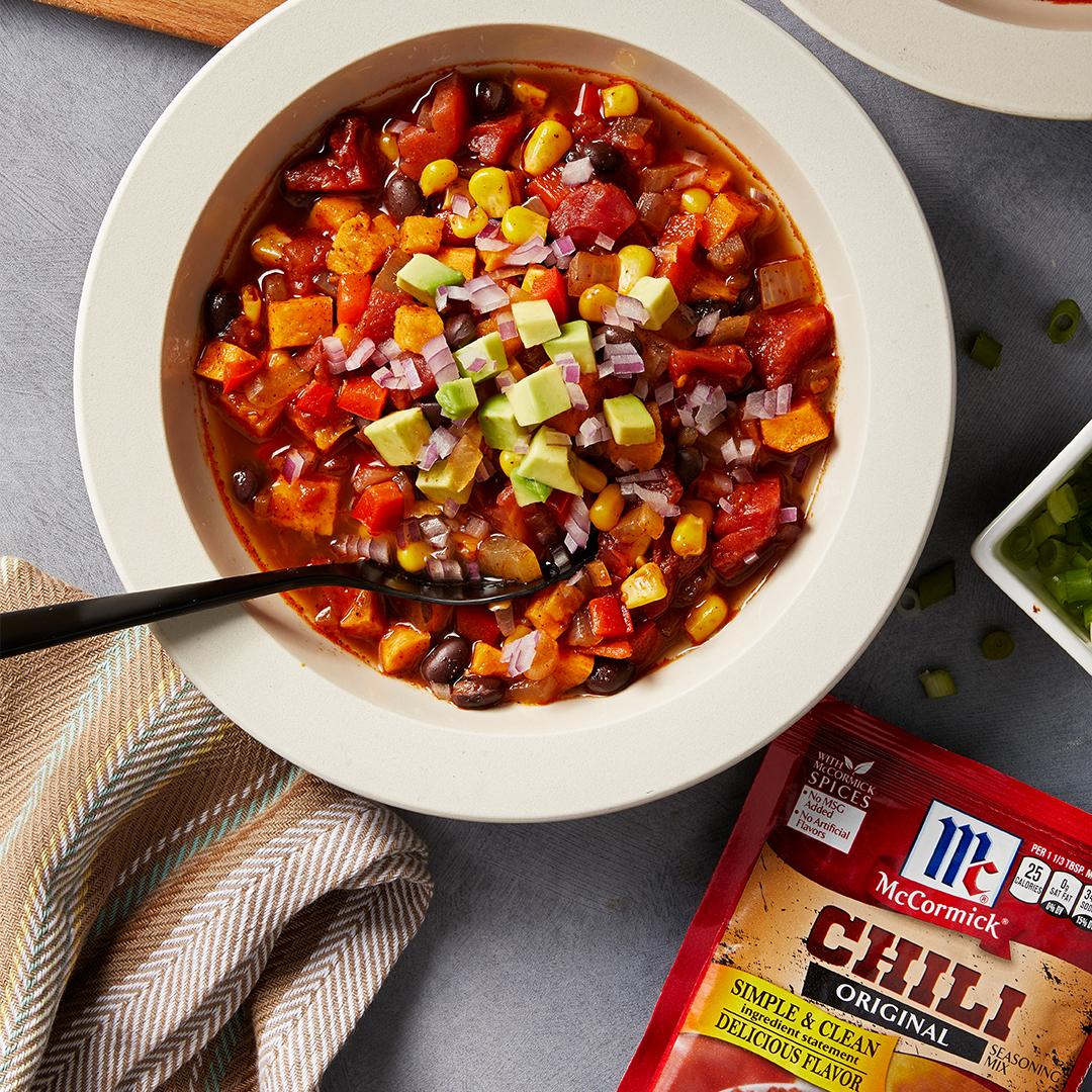 instant pot chili recipe, instant pot recipe, instant pot mccormick vegetarian chili, vegetarian recipes