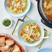 instant pot soup, soup recipes, instant pot chicken noodle soup