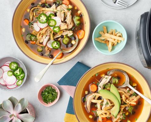 instant pot soup, instant pot recipe, instant pot, instant pot chicken tortilla soup
