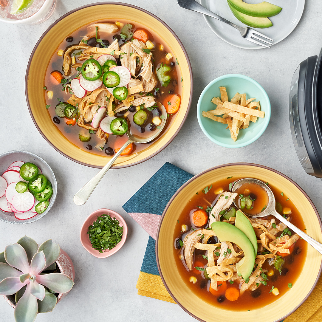instant pot soup, instant pot recipe, instant pot, instant pot chicken tortilla soup