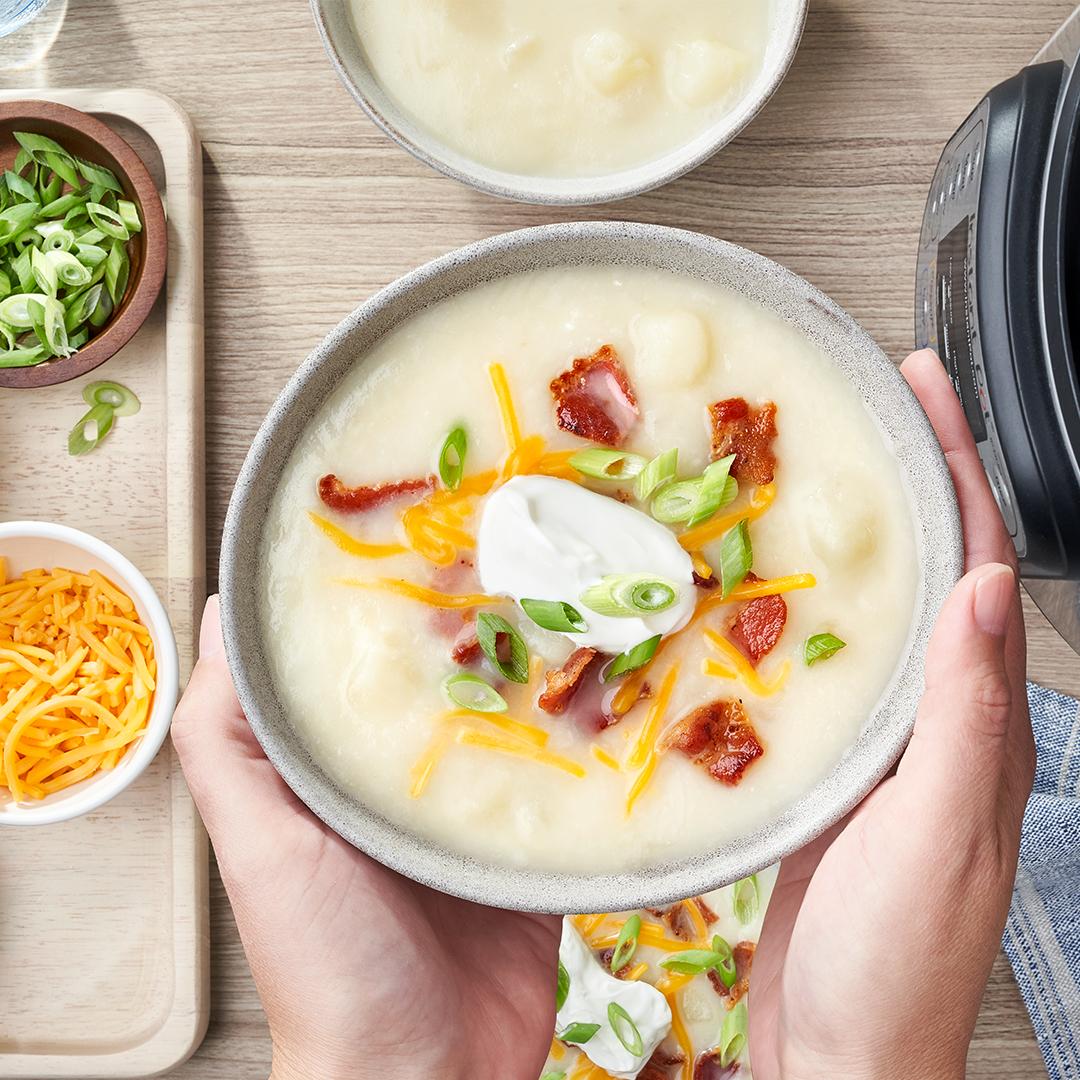 instant pot, instant pot recipes, instant pot soup recipes, instant pot potato soup recipes