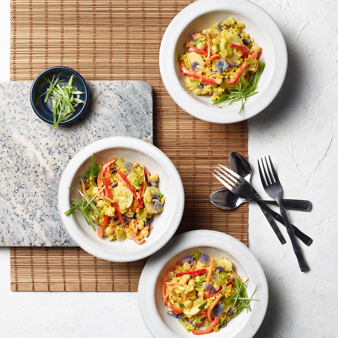 instant pot recipe, instant pot coconut curry vegetable rice
