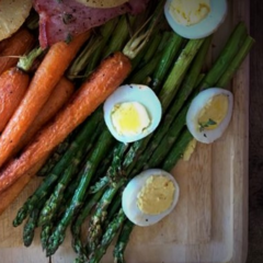 instant omni, asparagus, egg, easter