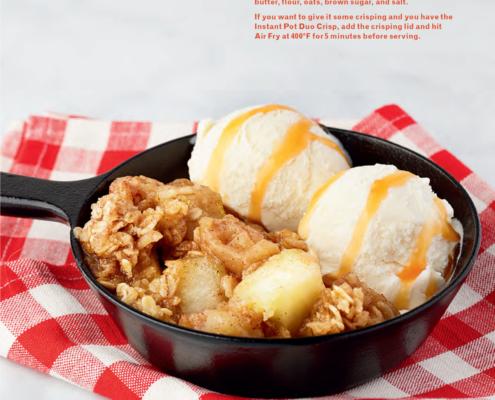 instant pot, instant pot dessert. instant pot apple crumble