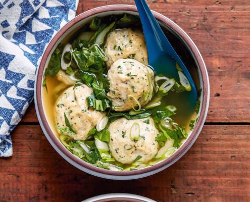 instant pot recipes, pressure cooker wonton meatball soup