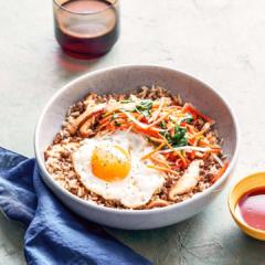 instant pot recipes, pressure cooker, bibimabap bowl