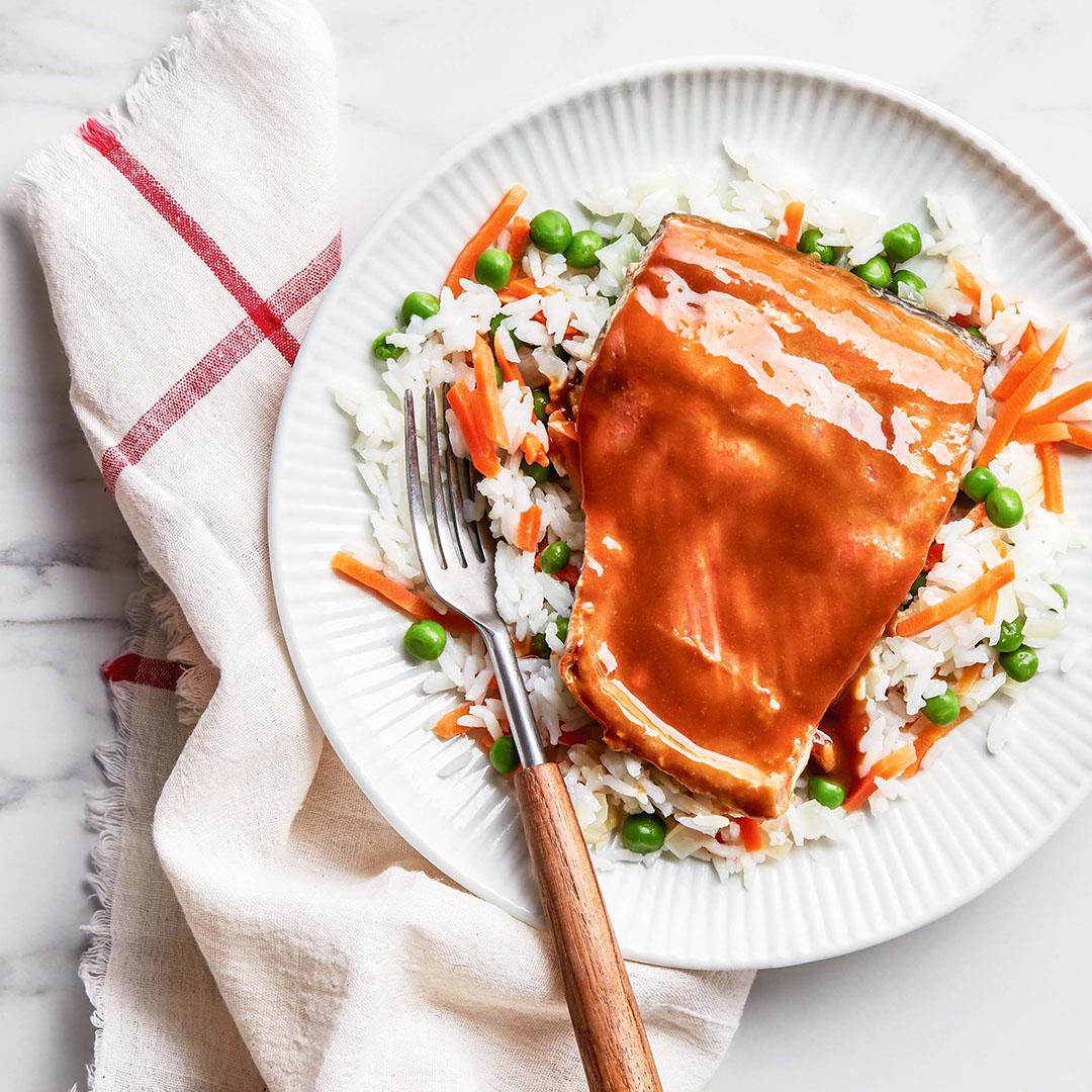pressure cooker recipes, honey mustard salmon, pressure cooker