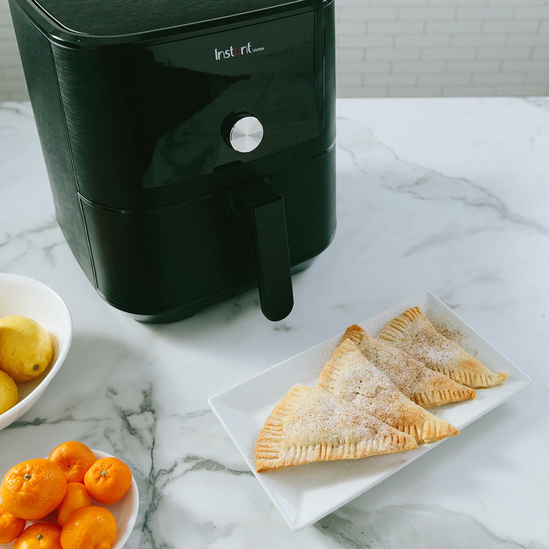 instant vortex recipes, air fryer recipes, peach turnover recipes