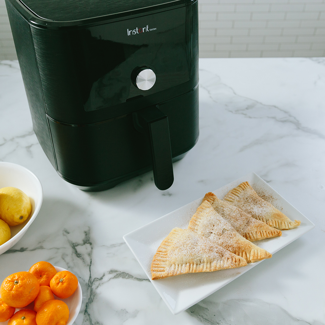 instant vortex recipes, air fryer recipes, peach turnover recipes
