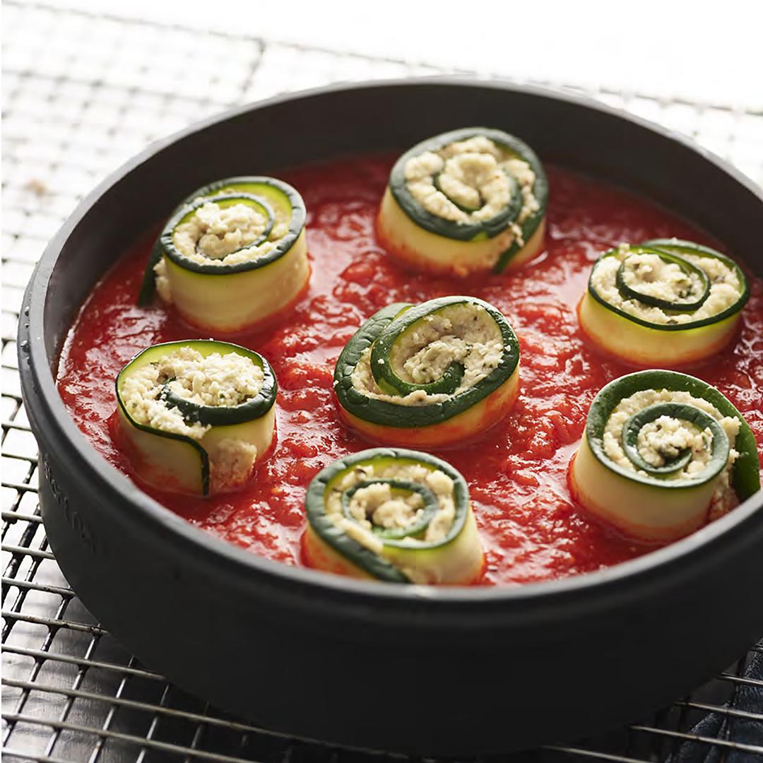 instant pot recipes, vegan zucchini rolls, vegan pressure cooker recipes