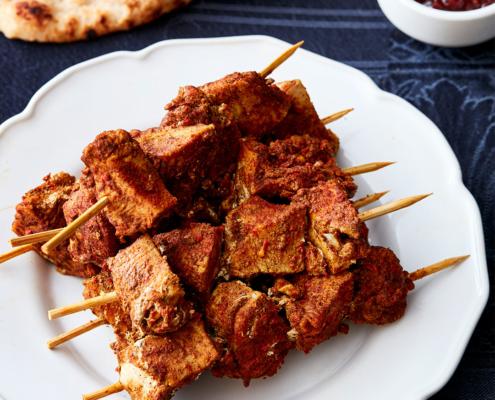 pressure cooker recipes, instant pot chicken recipes, tikka-spiced chicken kebabs