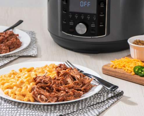 mac and cheese, pulled pork, instant pot recipes