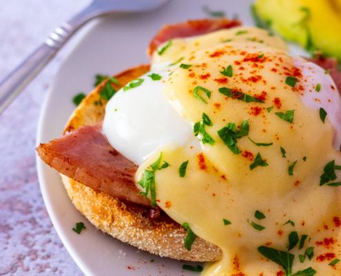 sous vide recipes, eggs benedict