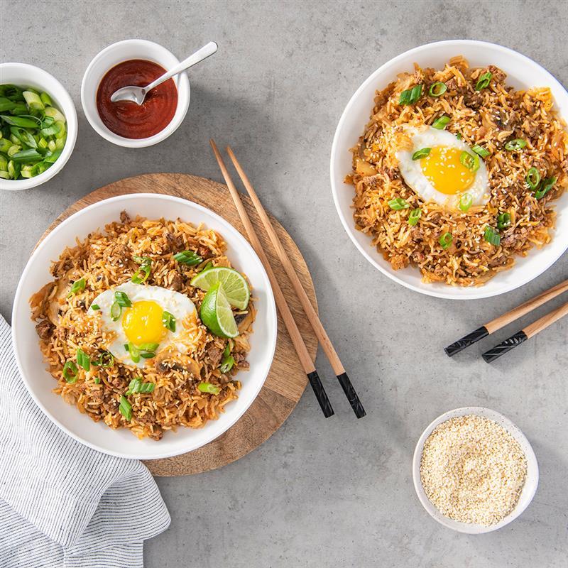 instant pot recipes, instant pot kimchi, fried rice