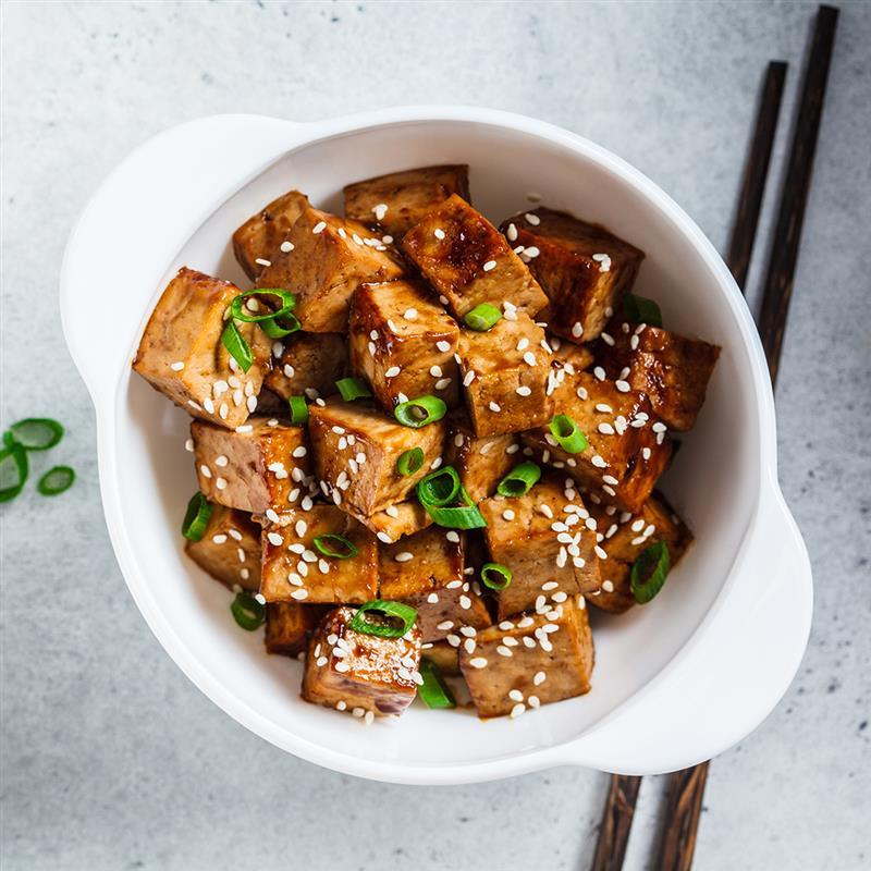 Slow Cooked Hoisin Miso Ginger Glazed Tofu