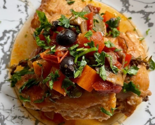 Slow Cooked Chicken Cacciatore