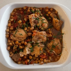 Slowed Cooked Chicken and Chickpea Tagine