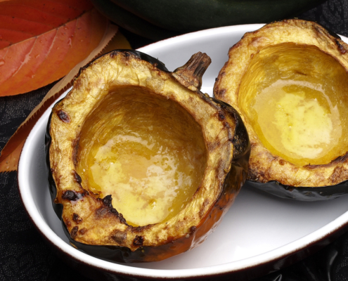 Maple and Butter Acorn Squash