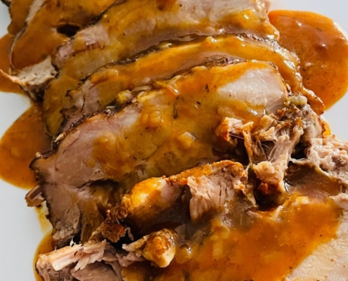 Slow Cooked Smoked Beer Pork